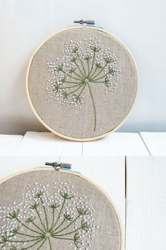 floral embroidery Size wood hoop 17 cm ( inches) You can choose size hoop: diameter 17 cm ( inches) diameter 20 cm inches) Other color flowers : personalized embroi Basic Embroidery Stitches, Hand Embroidery Videos, Floral Embroidery Patterns, Embroidery Flowers Pattern, Embroidery On Clothes, Simple Embroidery, Embroidery Hoop Art, Hand Embroidery Designs, Embroidered Flowers