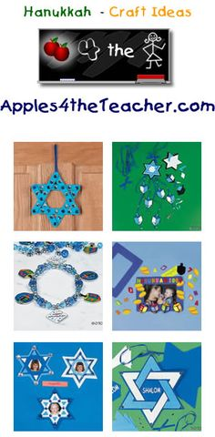 Fun Hanukkah crafts for kids - Hanukkah craft ideas for children.