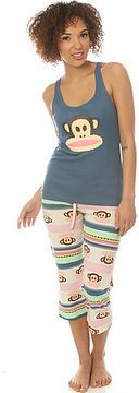 Paul Frank The Groovy Julius Racer Tank & Capri Set in Heather Blue Combo on shopstyle.com
