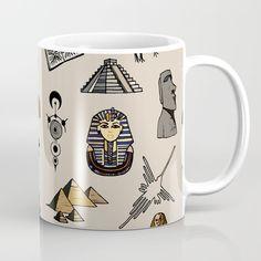 Dark Archeo pattern Coffee Mug by laurafrere Graphic, Illustration, Coffee Mugs, Dark, Create, Tableware, Patterns, Pattern, Drawing Drawing