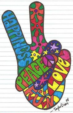 I want this as a sticker for my car! I miss my peace sign!
