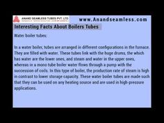 Interesting Facts About Boilers Tubes