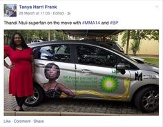 Facebook screenshot from one of our #BP #MMA14 drivers.
