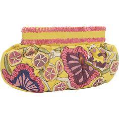 Moyna Handbags Large Gathered Clutch Yellow - Moyna Handbags Fabric Handbags