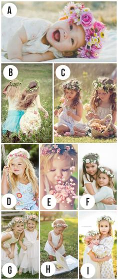 Love these flower crowns for photo props- so sweet
