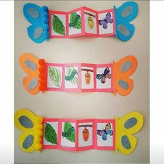 Life cycles preschool - Nature and society Preschool Education, Preschool Crafts, Preschool Classroom, Life Cycle Craft, Hungry Caterpillar Activities, Insect Crafts, Nature Crafts, Butterfly Life Cycle, Lifecycle Of A Butterfly
