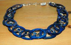 Royal Blue Mother of Pearl Neckalce by SeasonsJewels on Etsy