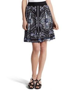 White House Black Market-Printed Chiffon Skirt-Had to have it!
