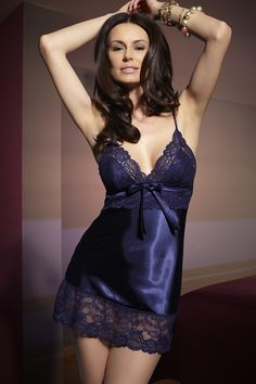 Stunning Satin nightgown Frm Skye Miller's bd: Lingerie, love the color and pattern, cut, and looks so sexy.