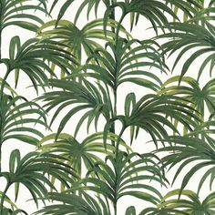 House of Hackney PALMERAL Wallpaper Off White / Green