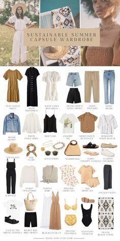 Capsule Outfits, Fashion Capsule, Mode Outfits, Fashion Outfits, Capsule Wardrobe Summer, Travel Wardrobe Summer, Travel Outfits, Fashion Tips, Spring Summer Fashion