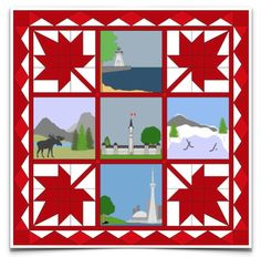 Free Quilt Pattern: Canada Wall Hanging