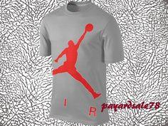 NEW MEN'S SIZE 2XL NIKE JORDAN AIR COLOSSAL LOGO T-SHIRT 100% AUTHENTIC  #NIKE #GraphicTee