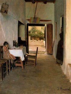 Interior (1872) Santiago Rusiñol