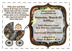 Mossy Oak Camo with Baby Carriage  Baby Shower by lovebandpdesigns, $15.00 #babyshower #mossyoak #invitation