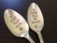 You can acquire the most perfect spoons in existence:   29 Reasons You Should Absolutely Have A Halloween Wedding