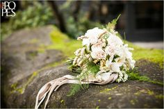 Cream bridal bouquet from Melanie Benson Floral. A Romantic European Wedding Experience at JM Cellars | Weddings in Woodinville, WA » Seattle Wedding Photographers and Destination Wedding P...