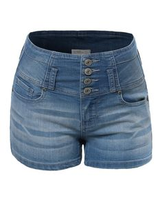 LE3NO Womens Stretchy Knee Length Denim Jean Bermuda Shorts ...
