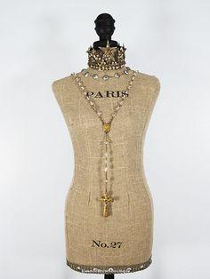 "❥ Tabletop French Muslin Dressform - 25"""