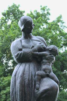Mother breastfeeding by Ivan Mestrovic / Croatian Artist