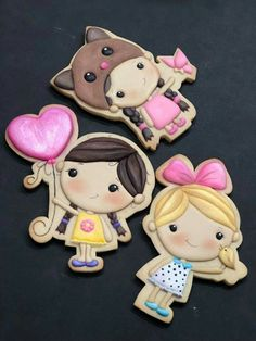 Royal Icing Cookies, Fun Crafts For Kids, Cool Kids, Kids Fun, Cookie Decorating, Little Girls, Hello Kitty, Diy Crafts, Creative