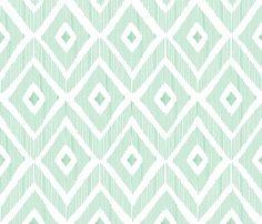 Ikat Mint fabric by fat_bird_designs on Spoonflower - custom fabric