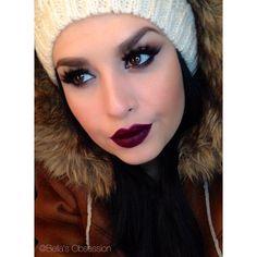Her makeup!