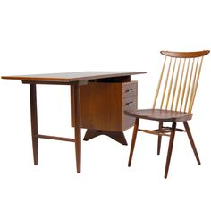 Desk and Chair by George Nakashima #midcentury (via @1stdibs)