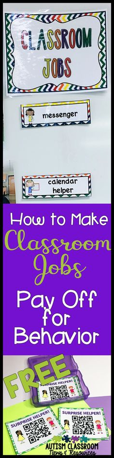 If you have met Bob, you have worked with a student who needs lots of attention and has limited impulse control. Helper jobs in the classroom can help. Doesn't matter if you are a general education teacher or a special education teacher, sometimes kids just need a job to keep them engaged. Check out the ways you use can use helper roles beyond the traditional job chart...and download the free surprise helper cards. via @drchrisreeve