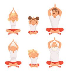 Mother and child doing different activities Vector Image Yoga Illustration, Mother And Child, How To Do Yoga, Buddhism, Children, Kids, Vector Free, Parents, Exercise
