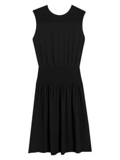 Theory Classic Sleeveless A-line Blouson Dress In Black Theory Clothing, Mom Wardrobe, Minimalist Dresses, Saks Fifth Avenue, World Of Fashion, Silk Dress, Dress Outfits, Rock, Classic