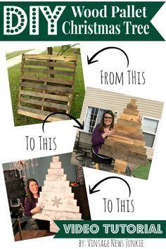 DIY Wood Pallet Christmas Tree Video Tutorial #12DaysofTrees