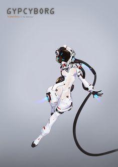 ArtStation - Astronaut, Hirada Hirao Female Character Design, Character Design References, Character Drawing, Character Design Inspiration, Character Concept, Robot Concept Art, Armor Concept, Art Et Illustration, Character Illustration