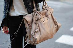 cute bag .... balenciaga - Click image to find more Women's Fashion Pinterest pins