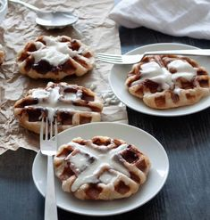 These Cinnamon Roll Waffles are fun to make and SO easy too! They look fancy but they're so simple anyone with a waffle iron can make them. Make a dozen in no time at all, perfect as a brunch recipe, or a special Christmas or Thanksgiving breakfast. They're even great for Valentine's Day Breakfast! These use frozen cinnamon roll dough so you know you're getting the best flavor! #cinnamonroll #cinnamonrollwaffle #wafflemaker #waffles #specialbreakfast #holidaybreakfast #christmasbreakfast #... Cinnamon Roll Dough, Cinnamon Roll Waffles, Pillsbury Cinnamon Rolls, Frozen Waffles, Yeast Rolls, Christmas Breakfast, Waffle Iron, Quick Snacks, Best Breakfast