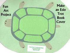 "ESIO TROT Book Cover:  Have your students design a turtle book cover. I have my students write a ""YRAMMUS"" (summary backwards) inside their booklets because ESIO TROT is tortoise spelled backwards.  First students write their summaries on a rough draft paper, and then they copy it backwards into their turtle booklets."