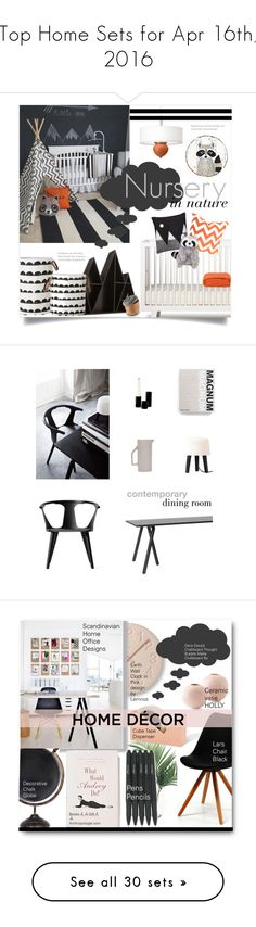 """Top Home Sets for Apr 16th, 2016"" by polyvore ❤ liked on Polyvore featuring interior, interiors, interior design, home, home decor, interior decorating, Oeuf, ferm LIVING, Donna Wilson and Vagabond House"