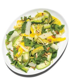Shaved Summer Squash Salad recipe from epicurious no cook serve room temp