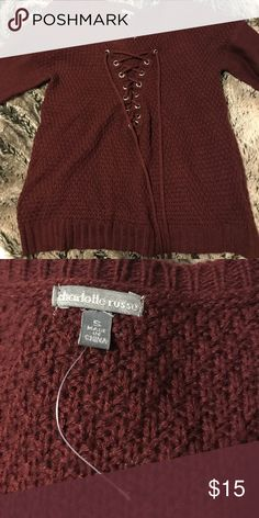 Charlotte Russe sweater Burgundy sweater never worn just took the tag off size SMALL Charlotte Russe Sweaters
