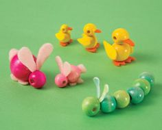 These are my fave!  Bead babies from family fun- LOVE them!  I'll have to make a Mom and 4 little ducklings (or bunnies!) trailing behind!