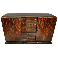Wonderful Art Deco Macassar Sideboard
