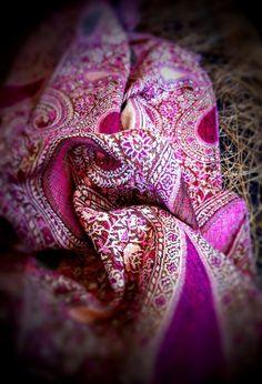 Large Paisley Scarf Pashmina Scarves Pink Fuchsia by LePetitMonkey, $29.99