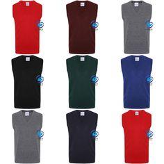 Only Global School Uniform V Neck Tank Top Kids Knitted Sleeveless Jumper Schoolwear Top New
