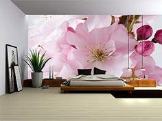 45 Ideas for art deco wallpaper bedroom beds Art Deco Wallpaper, Flower Wallpaper, Deco Design, Wall Design, Apple Blossom Flower, Cherry Blossom, Bedroom Decor, Wall Decor, Mural Wall Art