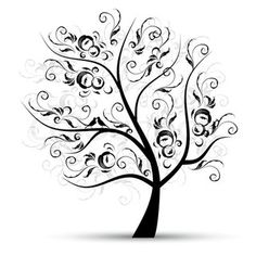 38 Best Family Tree Decoration Images Silhouette Tree
