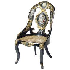 1stdibs.com | Lacquer Papier Mache Chair