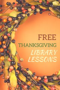 Free Thanksgiving Lessons and Activities for the Library!! Get more school library ideas at http://elementarylibrarian.com