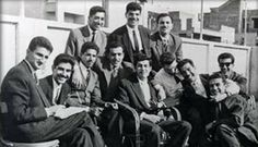 This is a #photograph of a group of some member of the #Iraqi Baath Party & includes a young Saddam Hussein.