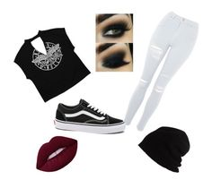 """Edgey 🖤"" by abby-gains on Polyvore featuring Topshop, Vans and SCHA"