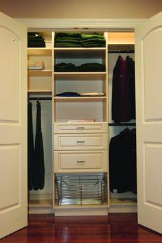 Smaller Closet Organization. ClosetsDaily.com Custom Closet Design, Closet  Designs, Custom Closets